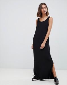 Платье макси с разрезами по бокам Minimum - Черный