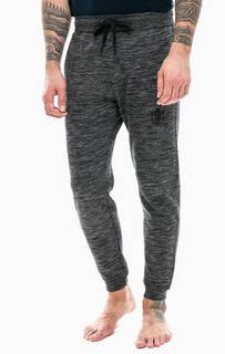 Серые хлопковые брюки с вышивкой Cacharel