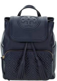Кожаный рюкзак с откидным клапаном Tory Burch