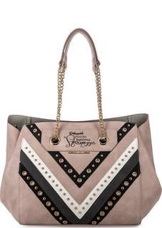 Розовая сумка с длинными ручками LE Pandorine