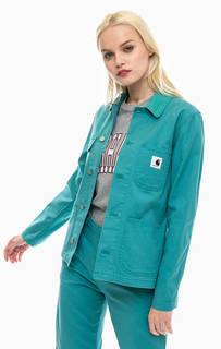 Бирюзовая куртка с вельветовым воротничком Carhartt WIP