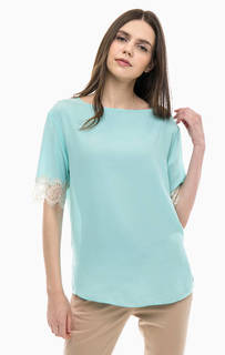 Полупрозрачная блуза с кружевной отделкой United Colors of Benetton