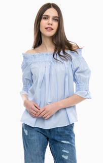 Хлопковая блуза с открытыми плечами GAS