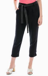 Укороченные льняные брюки зауженного кроя United Colors of Benetton