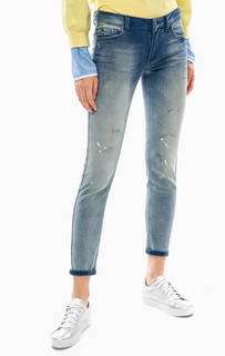 Зауженные джинсы с потертостями Silvian Heach