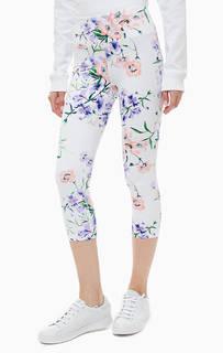 Белые спортивные бриджи с цветочным принтом Dkny