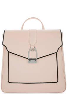 Розовый кожаный рюкзак с откидным клапаном La Martina