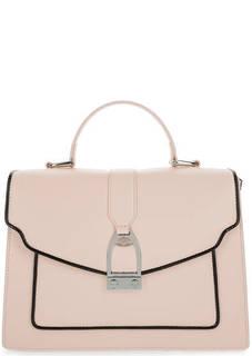 Розовая кожаная сумка с откидным клапаном La Martina