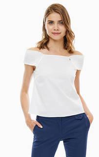 Белая блуза с открытыми плечами Patrizia Pepe