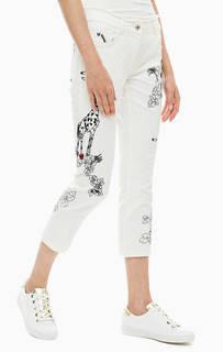Укороченные джинсы бойфренд с декоративной вышивкой Patrizia Pepe