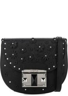 Кожаная сумка с декоративной отделкой Cromia