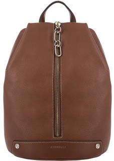 Коричневый рюкзак с одним отделом на молнии Fiorelli