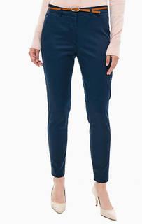 Синие укороченные брюки чиносы из хлопка B.Young