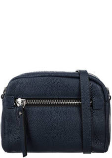 Синяя кожаная сумка с карманом Gianni Chiarini