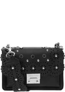Маленькая кожаная сумка с широким плечевым ремнем Rebecca Minkoff