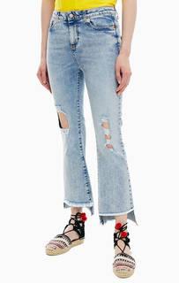 Рваные расклешенные джинсы United Colors of Benetton
