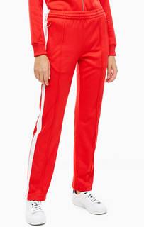Красные брюки с молниями на штанинах Calvin Klein