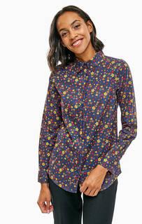 Приталенная рубашка из хлопка с цветочным принтом United Colors of Benetton