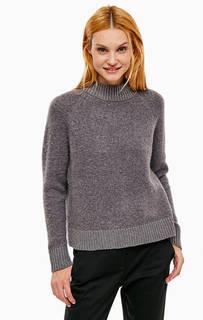 Серый свитер с длинными рукавами Selected