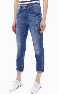 Рваные джинсы бойфренд с заплатами Rich&;Royal