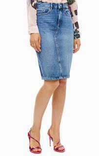 Джинсовая юбка с карманами Guess