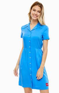 Синее платье-рубашка на пуговицах Calvin Klein