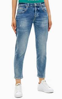 Синие укороченные джинсы бойфренд Vanille Guess