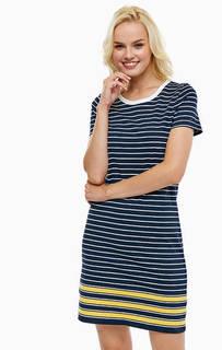 Хлопковое платье прямого кроя в полоску Tommy Hilfiger