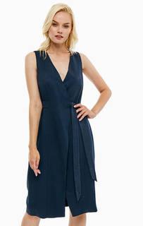 Однотонное платье с поясом Tommy Hilfiger