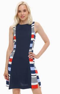 Приталенное платье из вискозы Tommy Hilfiger