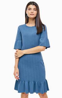Синее трикотажное платье-футляр Michael Kors
