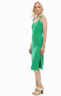 Зеленое платье сарафан с плетеными бретелями Tommy Hilfiger