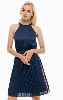 Синее платье с плиссированной юбкой Tommy Hilfiger