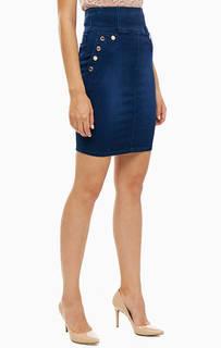 Синяя юбка с карманами Guess