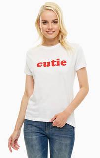 Белая футболка с принтом Sugarhill Boutique