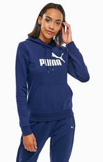 Синяя толстовка с капюшоном Puma