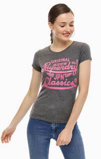 Серая футболка с принтом Superdry