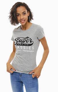 Серая футболка с пайетками Superdry