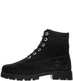 Черные демисезонные ботинки из нубука Timberland