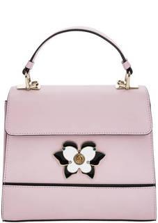 Маленькая розовая сумка из гладкой кожи Mughetto Furla