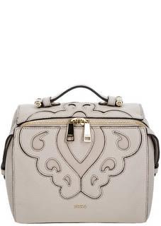 Серая кожаная сумка-рюкзак с одним отделом на молнии Furla Excelsa