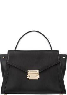 Кожаная сумка с откидным клапаном Whitney Michael Kors