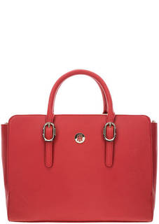 Красная сумка через плечо с карманами Tommy Hilfiger