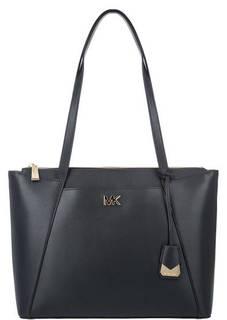 Синяя кожаная сумка с длинными ручками Maddie Michael Kors
