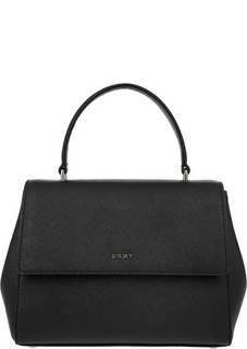 Маленькая черная сумка из сафьяновой кожи Dkny