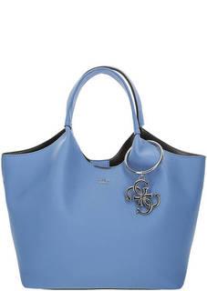 Большая сумка синего цвета Guess