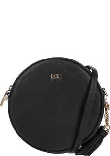Маленькая кожаная сумка круглой формы Canteen Michael Kors