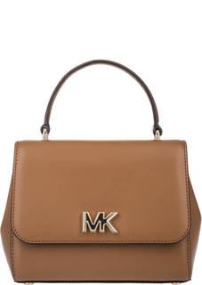 Маленькая кожаная сумка с короткой ручкой Mott Michael Kors