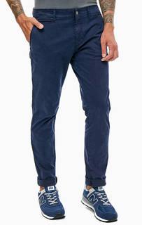 Синие хлопковые брюки с карманами Napapijri