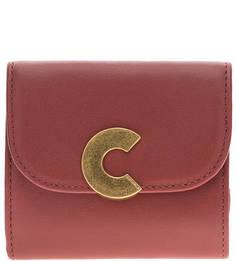 Красный кошелек из натуральной кожи Craquante Smooth Coccinelle